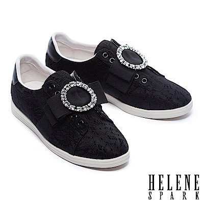 休閒鞋-HELENE-SPARK-浪漫華麗圓鑽飾蕾