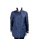BURBERRY 海軍藍菱格絎縫釦式外套