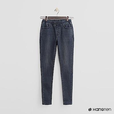 Hang Ten - 女裝 -仿舊刷色鬆緊牛仔褲-藍