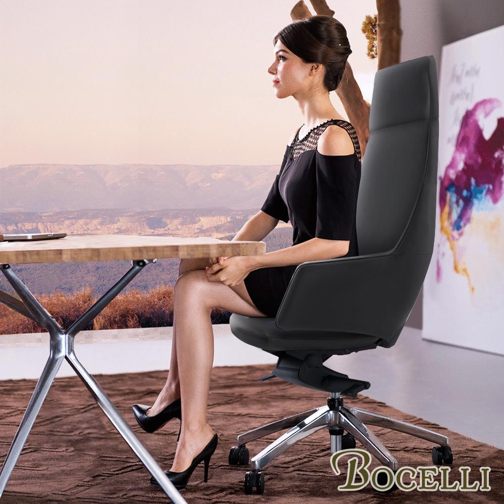 BOCELLI-POTERE力量風尚高背辦公椅(義大利牛皮)深灰