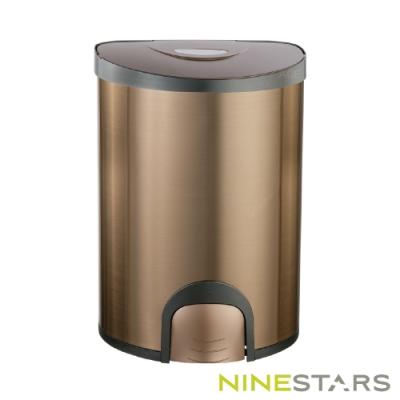 美國NINESTARS腳觸式自動掀蓋垃圾桶QDT-15-6
