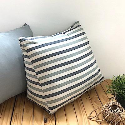 鴻宇 三角抬腿枕 靠墊 色織水洗棉 台灣製