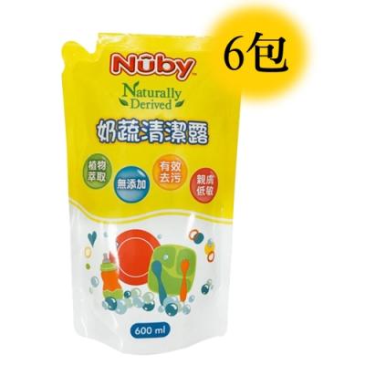 Nuby 奶蔬清潔露補充包 600ml/6入