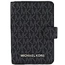 MICHAEL KORS Jet Set小LOGO經典PVC護照夾(深藍)