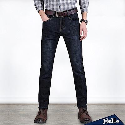刷色直筒男式牛仔長褲 二色-HeHa