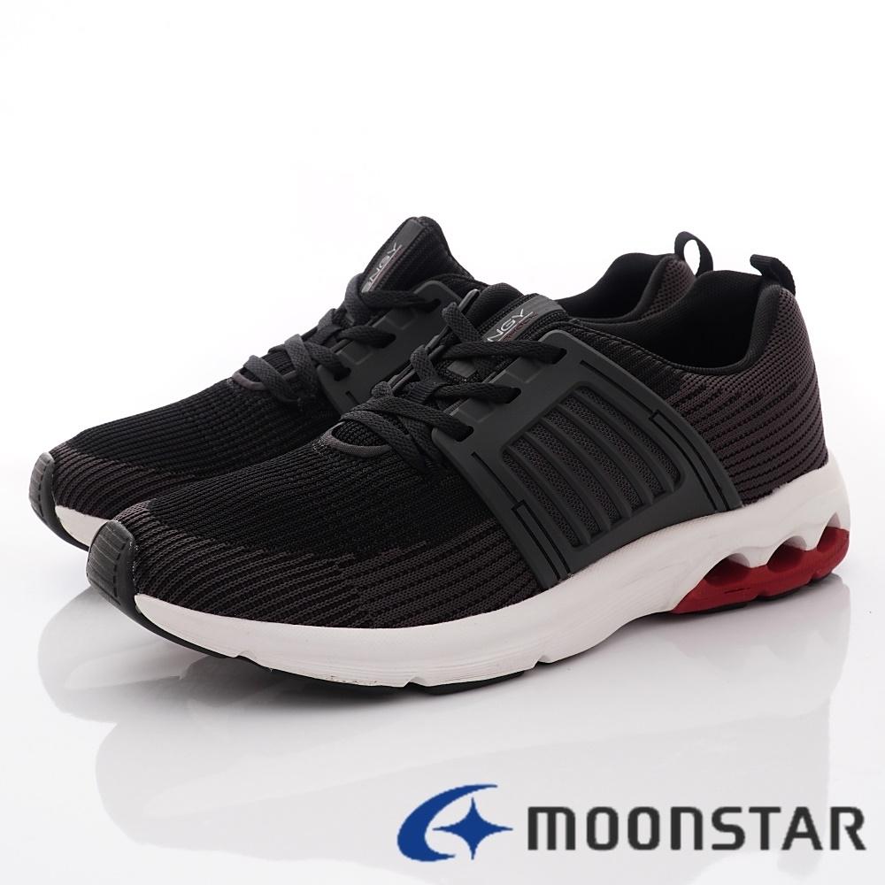 日本Moonstar戶外健走鞋 3E超柔軟系列 M6006黑(男段)