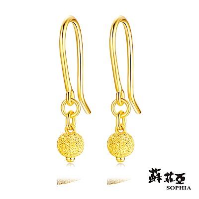 蘇菲亞SOPHIA - G LOVER系列古典圓黃金耳環