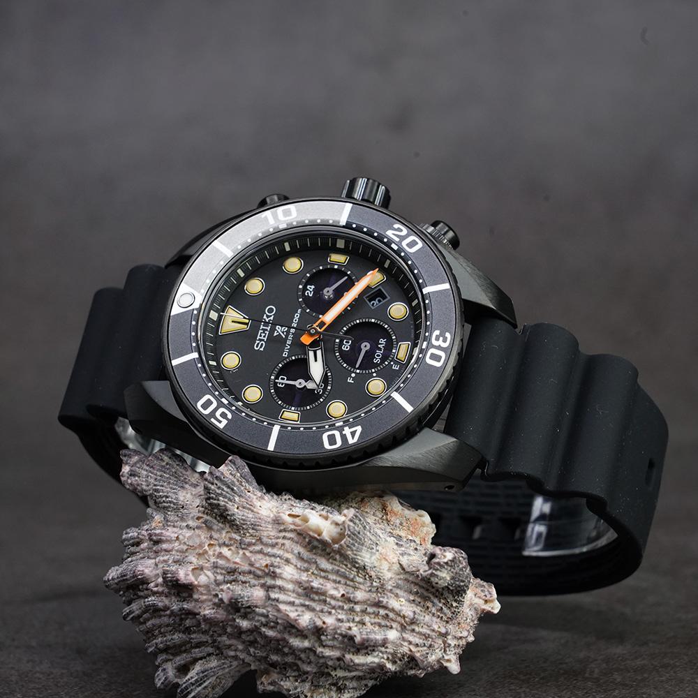 SEIKO 精工 Prospex 黑水鬼進化版限量太陽能計時錶 SSC761J1
