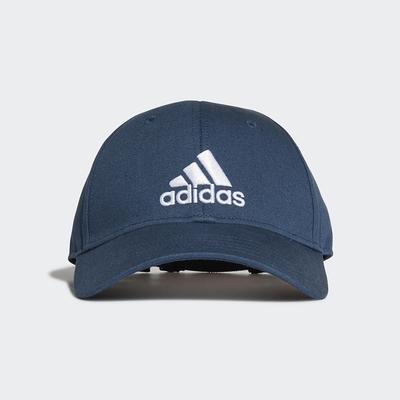 ADIDAS 帽子 男女款 棒球帽 老帽 遮陽帽 藍 GM6273