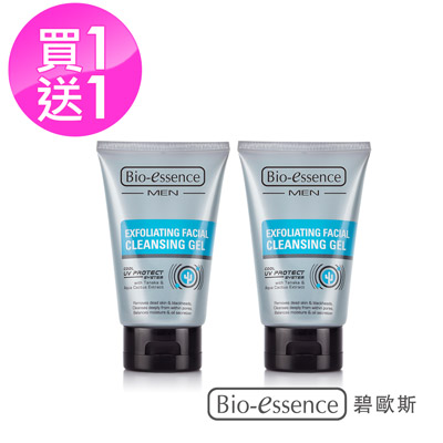 Bio-essence 碧歐斯 男士去角質煥膚潔面膠100G(2入組)