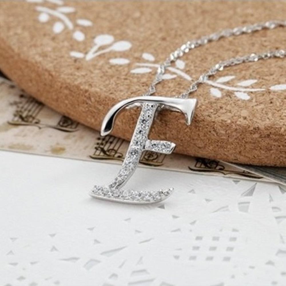 米蘭精品 925純銀項鍊-時尚簡約E英文字母