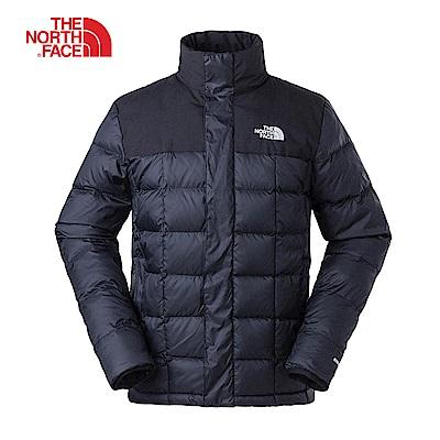 The North Face北面男款黑色輕便保暖羽絨外套|3V83JK3
