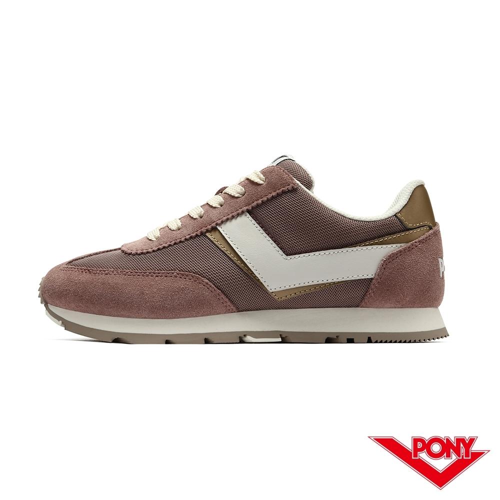 【PONY】SOHO系列 復古慢跑鞋 休閒鞋 女鞋-藕粉