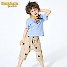 Balabala巴拉巴拉-幾何小圖案純棉七分寶寶褲-男(2色)