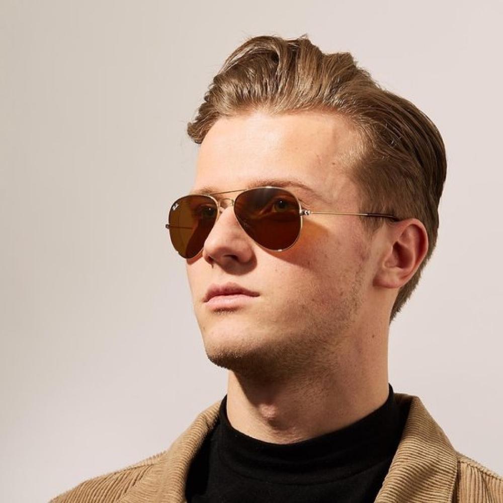 RAY BAN太陽眼鏡 經典飛官款/金褐色 # RB3025 00133-58mm