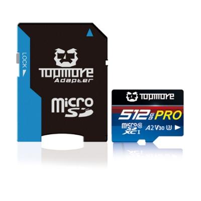 TOPMORE GAME-PRO MicroSDXC UHS-I U3 A2 V30 記憶卡 512GB 公司貨
