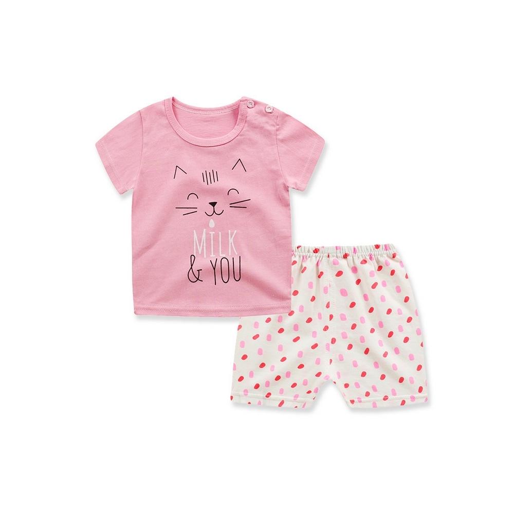 Baby童衣 兒童套裝純棉短袖短褲兩件套家居服 88330 product image 1