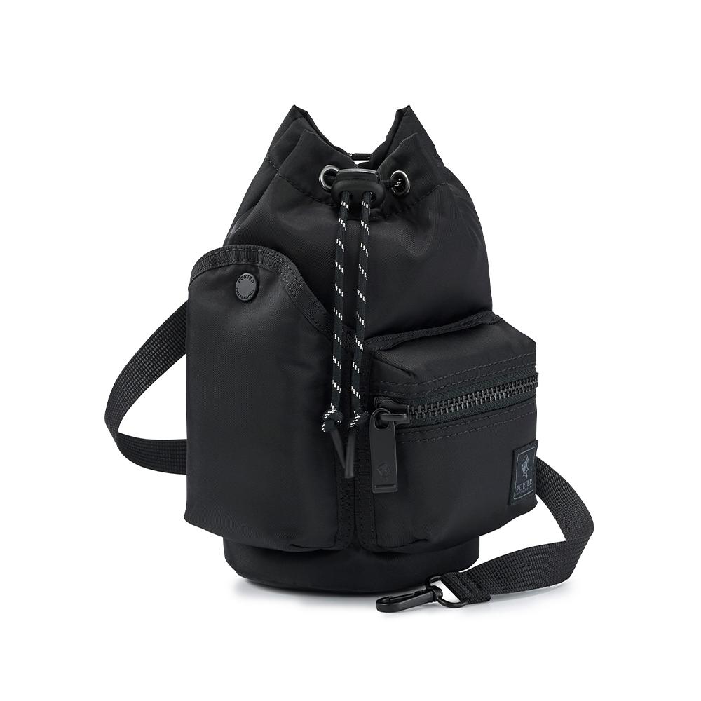 PORTER - 輕巧時髦POD束口兩用水桶包 - 黑