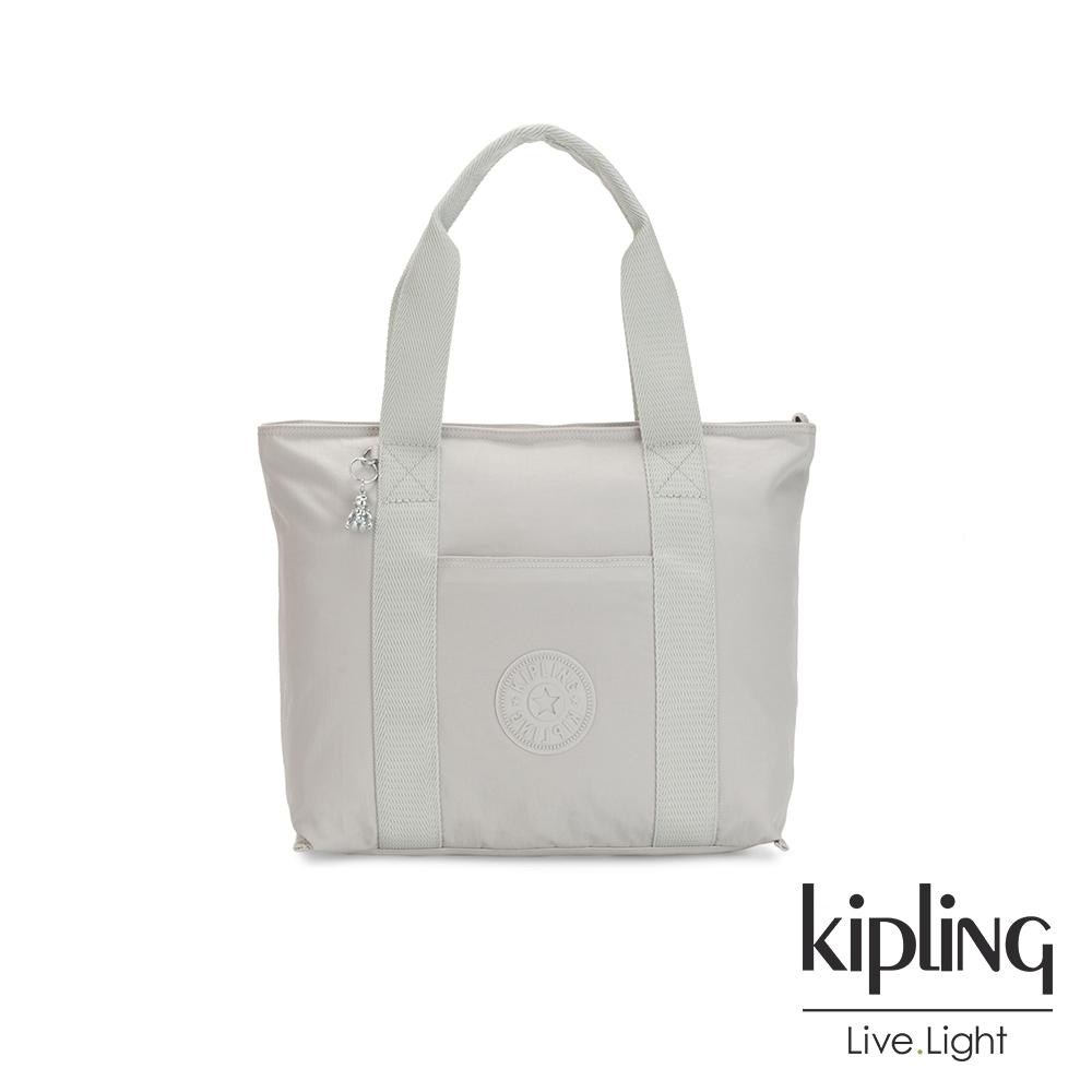 Kipling 無拘束自由灰大容量手提包-ERA M