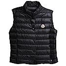 MONCLER LIANE品牌經典羽絨車縫Longue Saison背心(黑色)