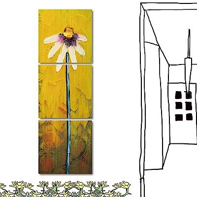 橙品油畫布 三聯式方形 藝術無框畫-不滅的愛30x30cm