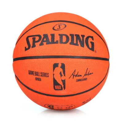 SPALDING NBA 7號籃球-橡膠 橘黑