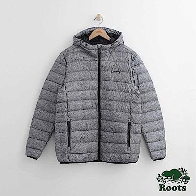 Roots 男裝-經典收納式羽絨外套-灰色