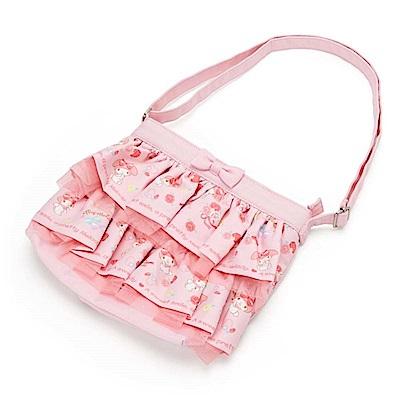 Sanrio 美樂蒂兒童用滾邊蛋糕裙造型斜背(浪漫玫瑰)
