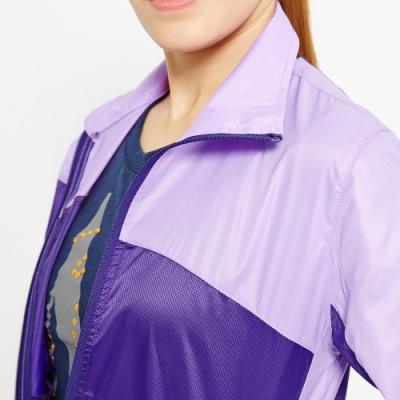 【FIVE UP】馬卡龍色系剪接抗UV風衣外套-紫色