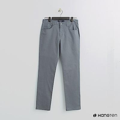 Hang Ten - 男裝 -純色休閒直筒褲-灰