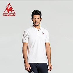 le coq sportif 法國公雞牌經典多色復古短袖POLO衫 男-白