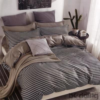 BEDDING-100%棉單人全鋪棉床包兩用被套三件組-夜華