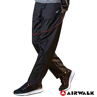 【AIRWALK】男款休閒風衣長褲-黑色