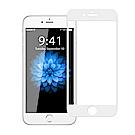 NISDA for iPhone 6 / 6S 滿版3D電鍍精雕玻璃貼-白