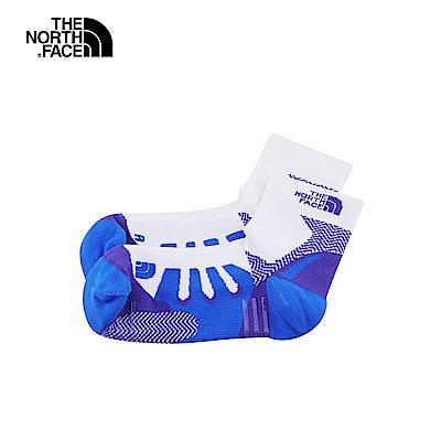 The North Face北面男女款藍白撞色舒適透氣運動襪|3RJED88