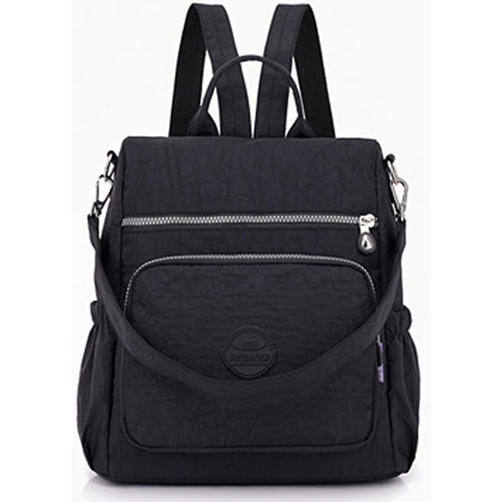 YS8631BK時尚輕便背包潮流大容量双肩包/後背包/側背包黑色
