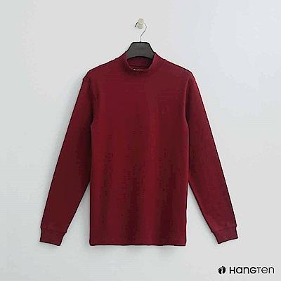 Hang Ten - 男裝 - 立領質感純色上衣 - 紅