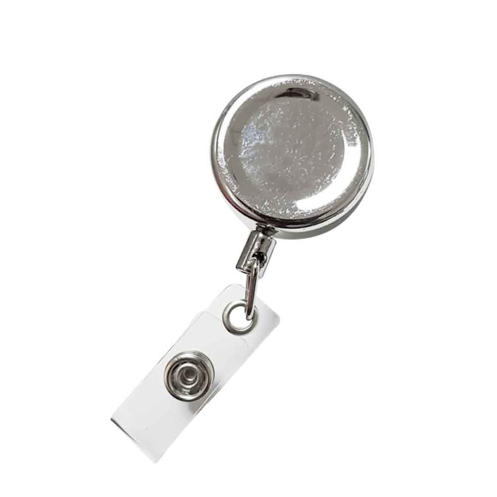 (直徑3cm)高彈力耐用 金屬伸縮鑰匙圈 識別證 悠遊卡 伸縮拉環(附吊環)