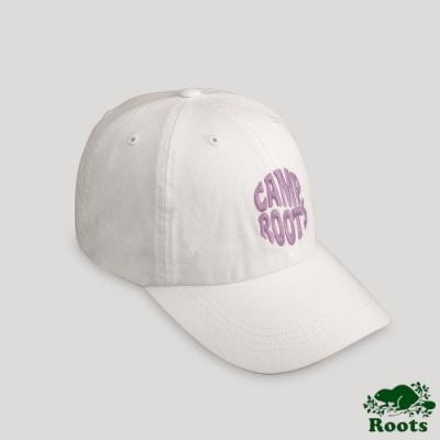 Roots配件- 戶外野營系列 刺繡棒球帽-白色