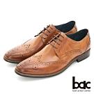 【bac】歐風紳士 真皮雕花牛津鞋-棕色