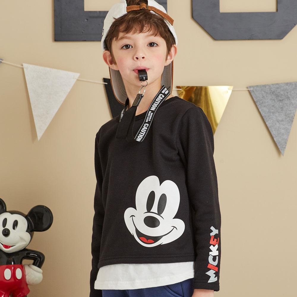 Disney 米奇系列隨性米奇刷毛上衣(共2色)