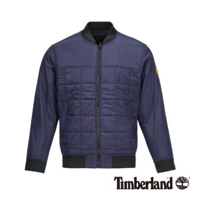 Timberland 男款寶石藍輕質棉飛行員夾克 A21CF