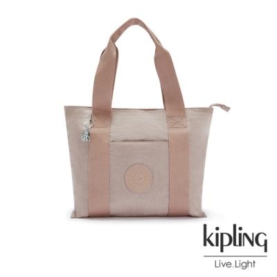 Kipling 玫瑰拿鐵色手提包-ERA S