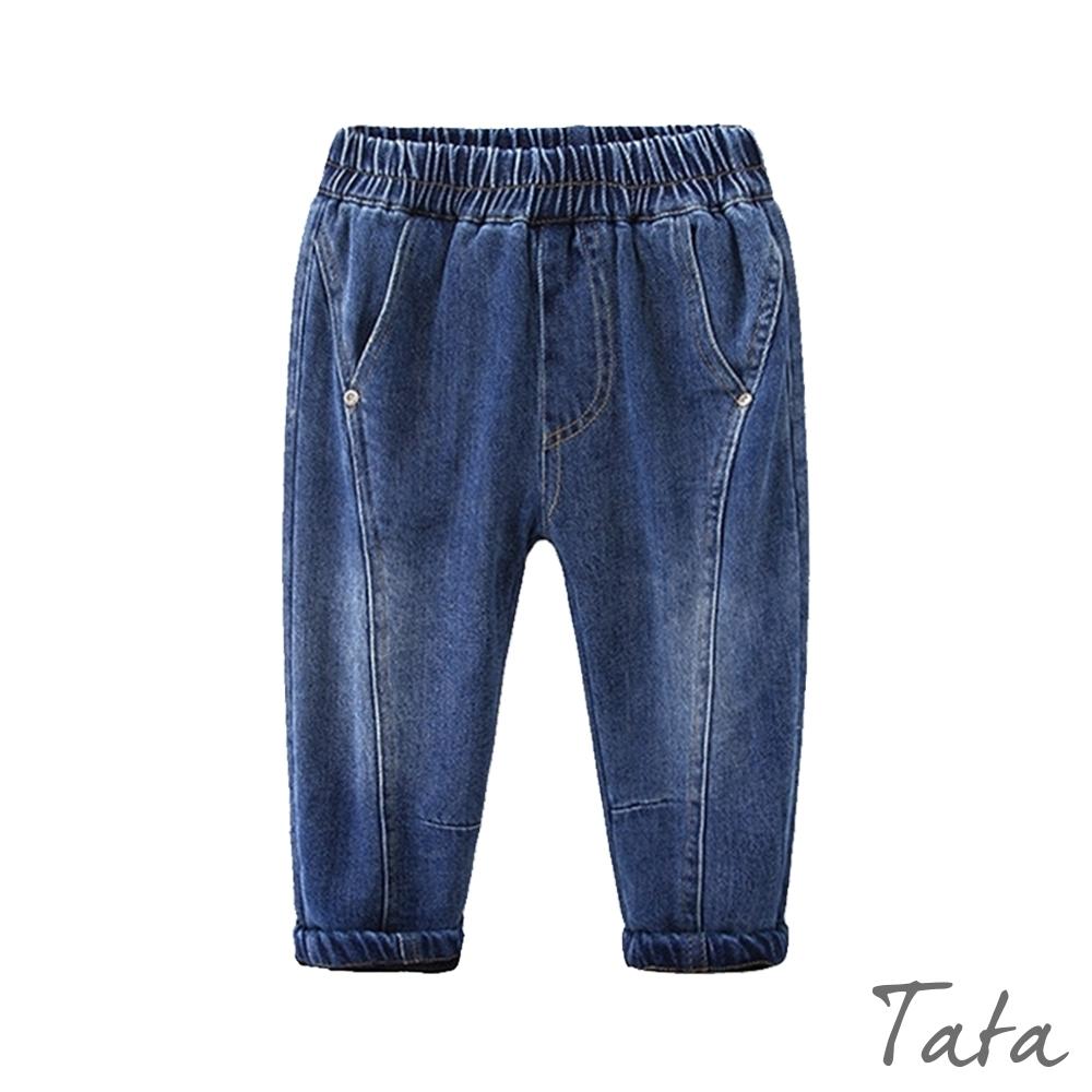 童裝 經典深藍加絨牛仔長褲 TATA KIDS