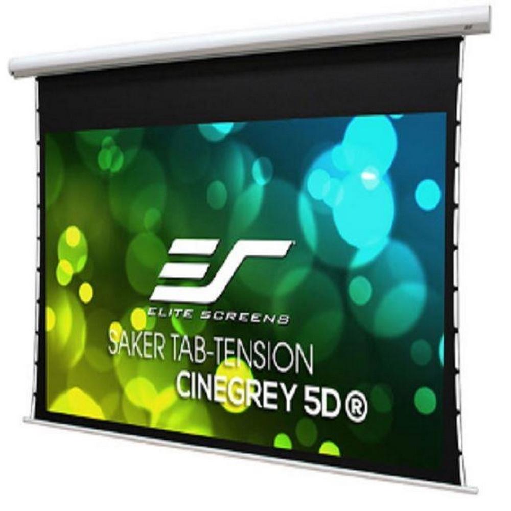 EliteScreens100吋16:9頂級isf認證電動張力幕-5D高增益灰幕- SKT100XHD5-E24 賣場販售 白色機殼