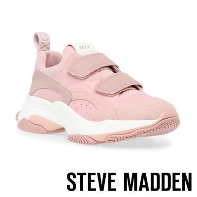 STEVE MADDEN-MARAUDER 拼接魔鬼氈厚底老爹鞋-粉色