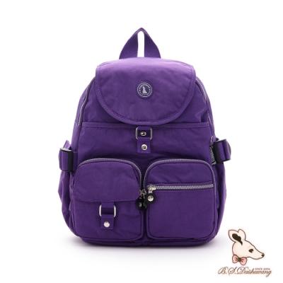 B.S.D.S冰山袋鼠 - 威尼斯假期 - 經典防潑水插袋後背包 - 薰衣紫