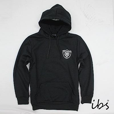 ibs美休風潮簡約帽T(黑-男)