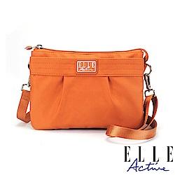 ELLE Active 優雅隨行系列-輕薄多夾層側背包/斜背包/手拿包-橘色