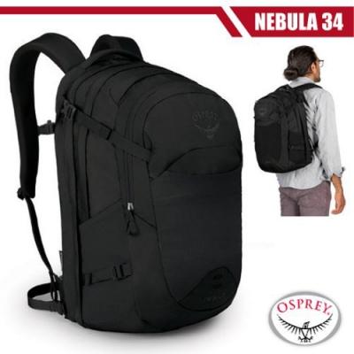 OSPREY 新款 Nebula 34L 超輕多功能城市休閒筆電背包_黑 R
